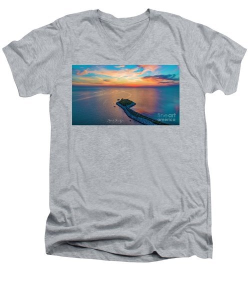 Dusk At The Knob Men's V-Neck T-Shirt
