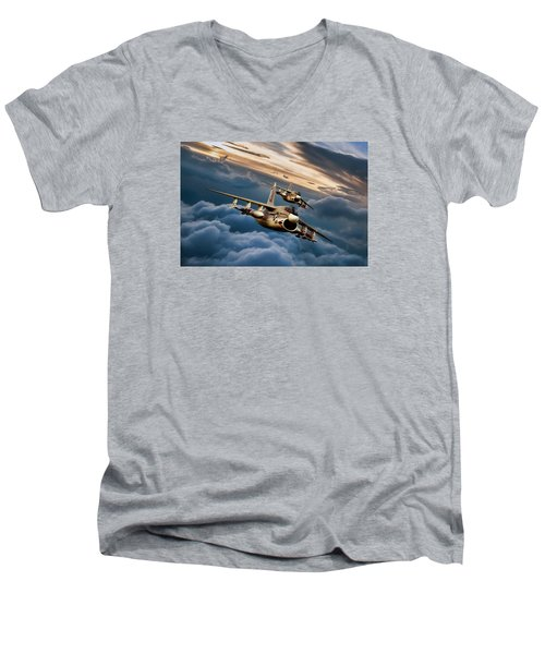 Dusk Delivery Corsair II Men's V-Neck T-Shirt