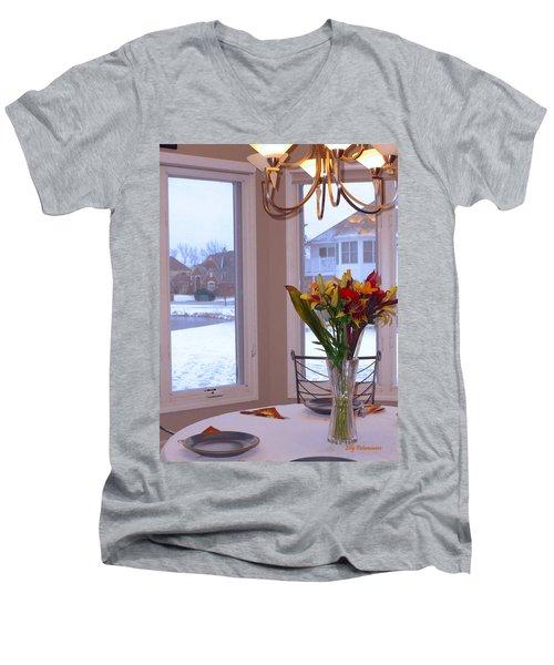 Dusk Dining View Men's V-Neck T-Shirt