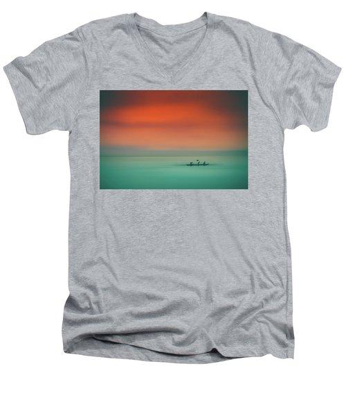 Dusk On The Lake Men's V-Neck T-Shirt