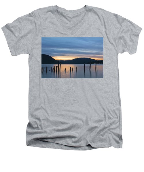 Dusk Sentinels Men's V-Neck T-Shirt by Angelo Marcialis