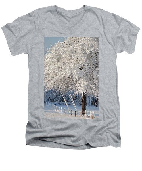 Dusted With Powdered Sugar Men's V-Neck T-Shirt