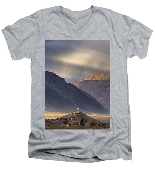 Dusty Evening, Padum, 2006 Men's V-Neck T-Shirt