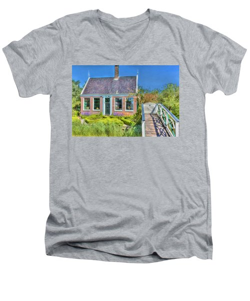 Dutch Cottage Men's V-Neck T-Shirt