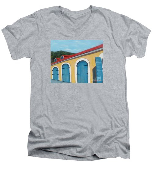 Dutch Doors Of St. Thomas Men's V-Neck T-Shirt