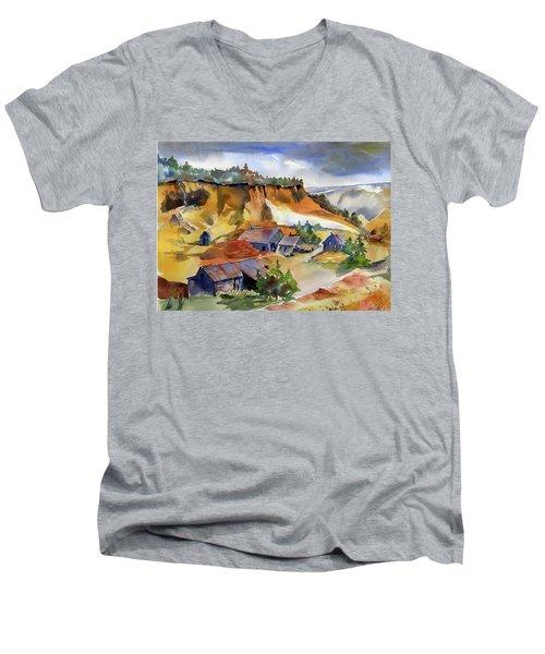 Dutch Flat Diggin's Gold Men's V-Neck T-Shirt