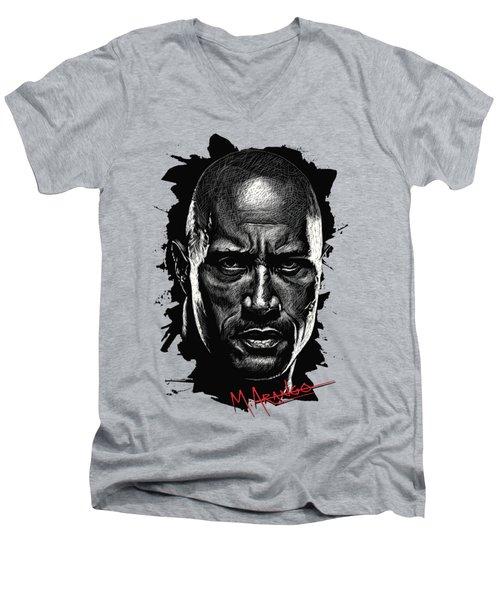 Dwayne Johnson Men's V-Neck T-Shirt