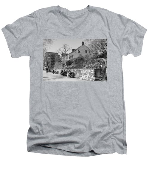 Men's V-Neck T-Shirt featuring the photograph Dyckman Farmhouse  by Cole Thompson
