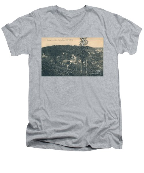 Men's V-Neck T-Shirt featuring the photograph Dyckman Street At Turn Of The Century by Cole Thompson