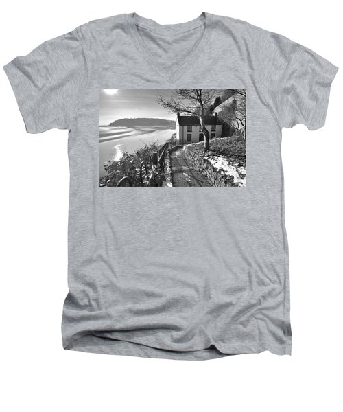 Dylan Thomas Boathouse 1b Men's V-Neck T-Shirt