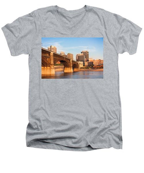 Eads Bridge At St Louis Men's V-Neck T-Shirt