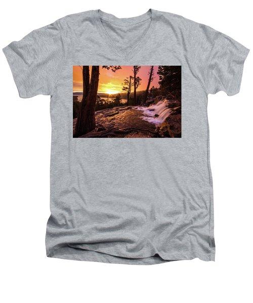 Eagle Falls Sunrise Men's V-Neck T-Shirt