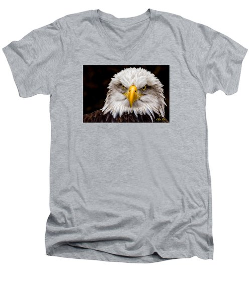 Defiant And Resolute - Bald Eagle Men's V-Neck T-Shirt