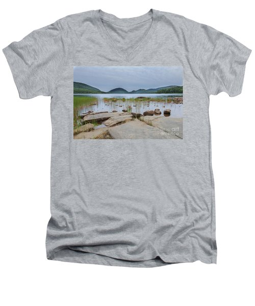 Eagle Lake Acadia National Park Men's V-Neck T-Shirt