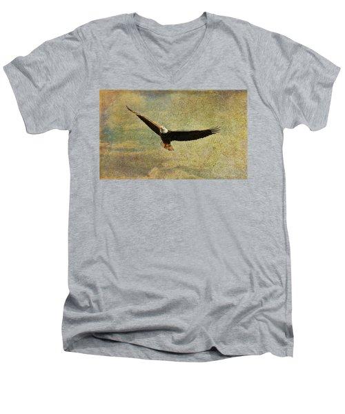 Eagle Medicine Men's V-Neck T-Shirt by Deborah Benoit