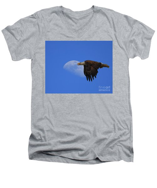 Eagle Moon Men's V-Neck T-Shirt