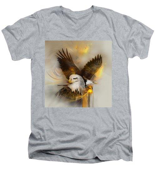 Eagle Pair Men's V-Neck T-Shirt