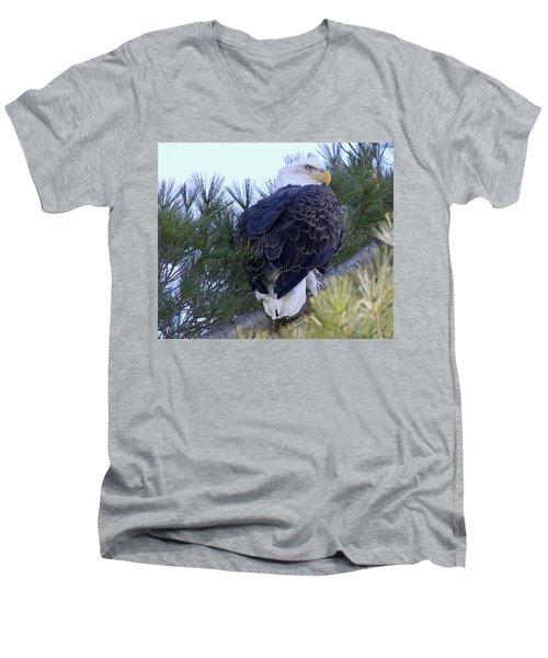 Eagle Portrait Men's V-Neck T-Shirt by Brook Burling