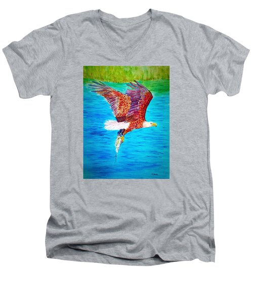 Eagle's Lunch Men's V-Neck T-Shirt