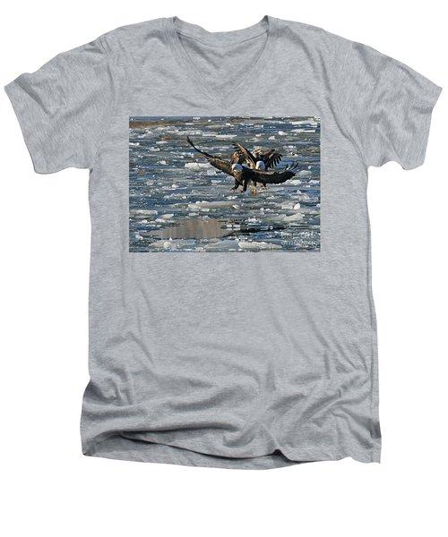 Eagles On Ice Men's V-Neck T-Shirt