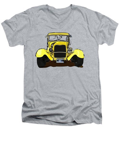 Early 1930s Ford Yellow Men's V-Neck T-Shirt