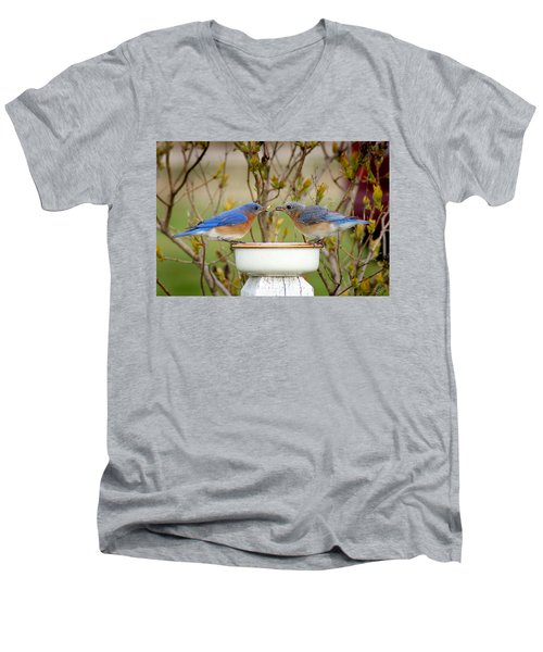 Early Bird Breakfast For Two Men's V-Neck T-Shirt
