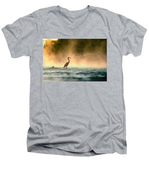 Early Bird Men's V-Neck T-Shirt by Rob Blair
