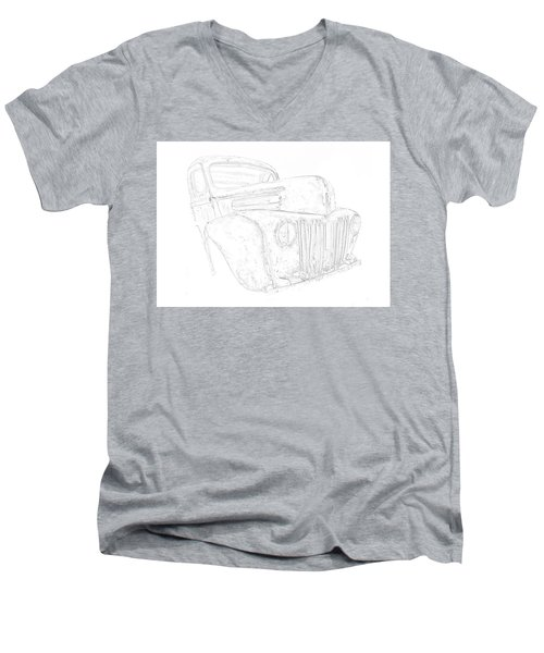 Early Ford Truck Men's V-Neck T-Shirt by Jeffrey Jensen