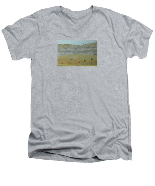 Early May On The Western Edge Men's V-Neck T-Shirt