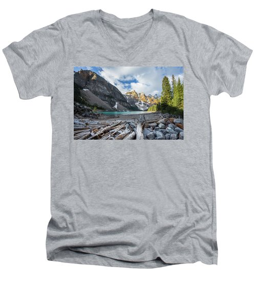 Early Morning At Moraine Lake Men's V-Neck T-Shirt