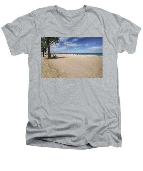 Early Morning Beach Men's V-Neck T-Shirt