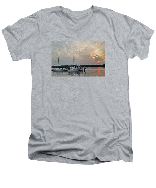 Early Morning Calm Men's V-Neck T-Shirt by Suzy Piatt