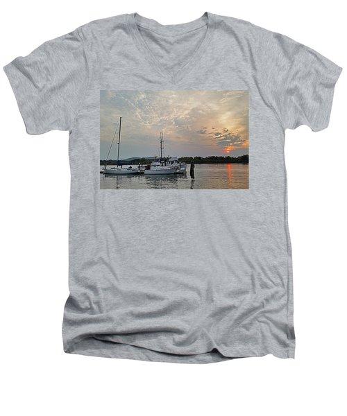 Early Morning Calm Men's V-Neck T-Shirt