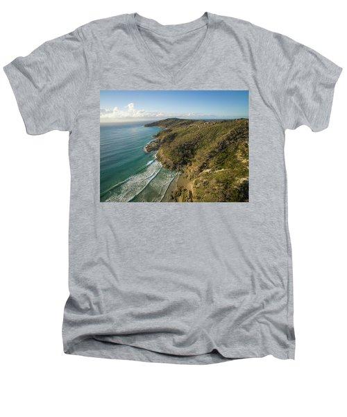 Early Morning Coastal Views On Moreton Island Men's V-Neck T-Shirt