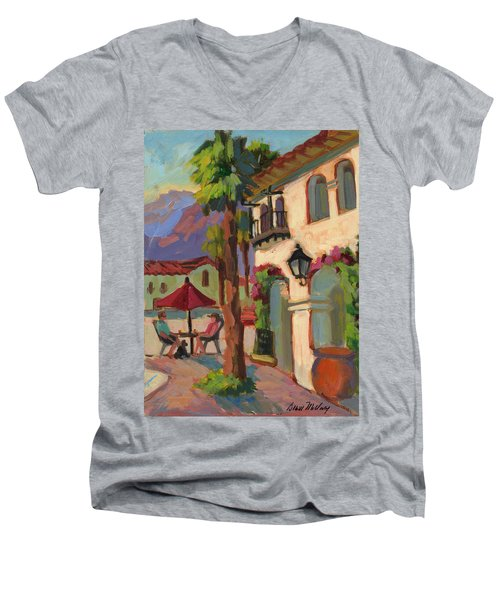 Early Morning Coffee At Old Town La Quinta Men's V-Neck T-Shirt
