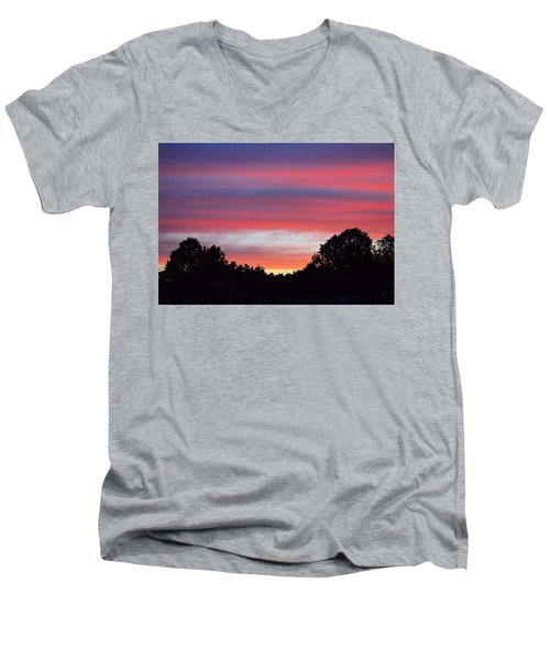 Early Morning Color Men's V-Neck T-Shirt by Kathy Eickenberg