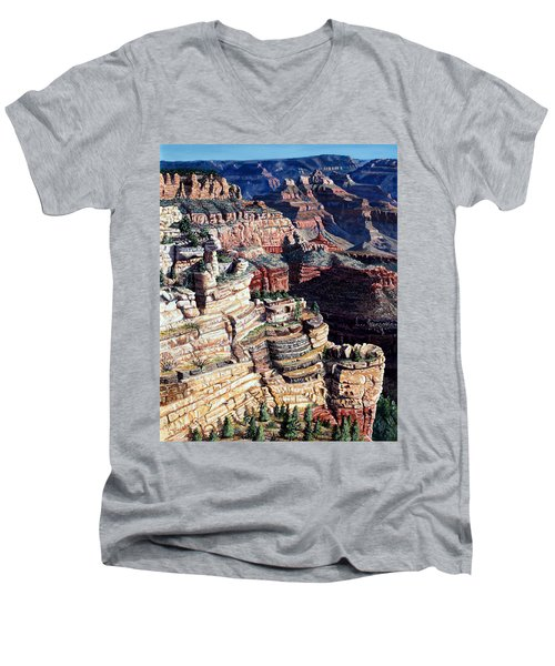 Early Morning From The South Rim Men's V-Neck T-Shirt