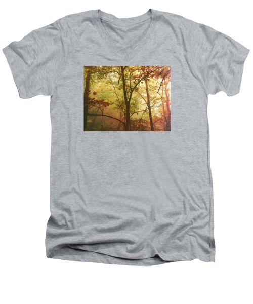 Early Morning Mist Men's V-Neck T-Shirt by Bellesouth Studio
