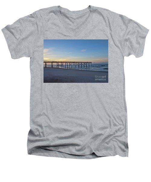 Early Morning Pier Men's V-Neck T-Shirt