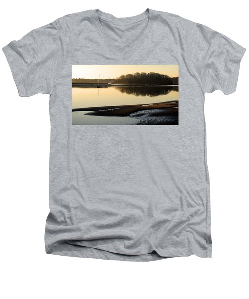 Early Morning Reflections  Men's V-Neck T-Shirt