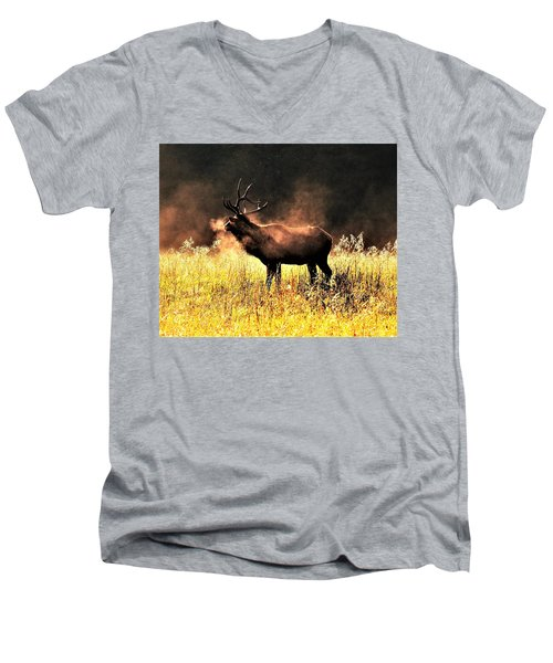 Early Morning Steam Men's V-Neck T-Shirt