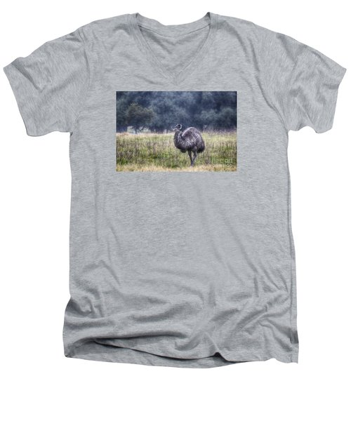 Early Morning Stroll Men's V-Neck T-Shirt by Douglas Barnard