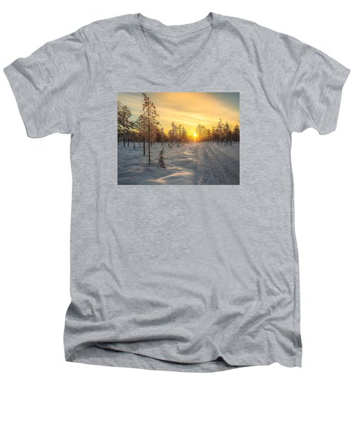 Early Morning Sun Men's V-Neck T-Shirt by Rose-Maries Pictures