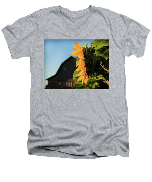 Men's V-Neck T-Shirt featuring the photograph Early One Morning by Chris Berry