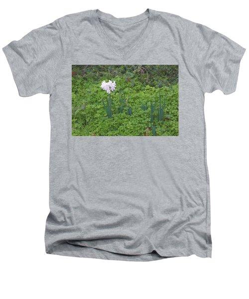 Early Spring Garden Flowers Men's V-Neck T-Shirt