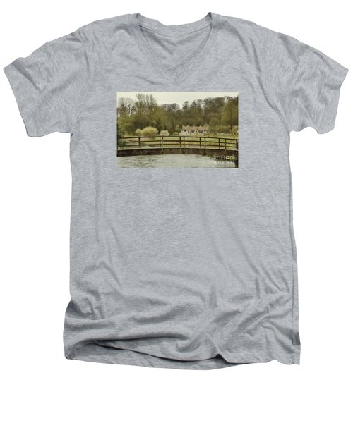 Early Spring In The Counties Men's V-Neck T-Shirt