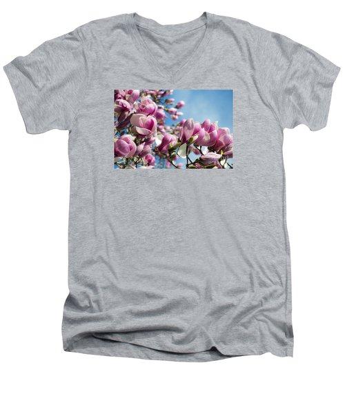 Early Spring Magnolia Men's V-Neck T-Shirt