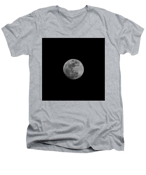 Early Spring Moon 2017 Men's V-Neck T-Shirt by Jason Coward