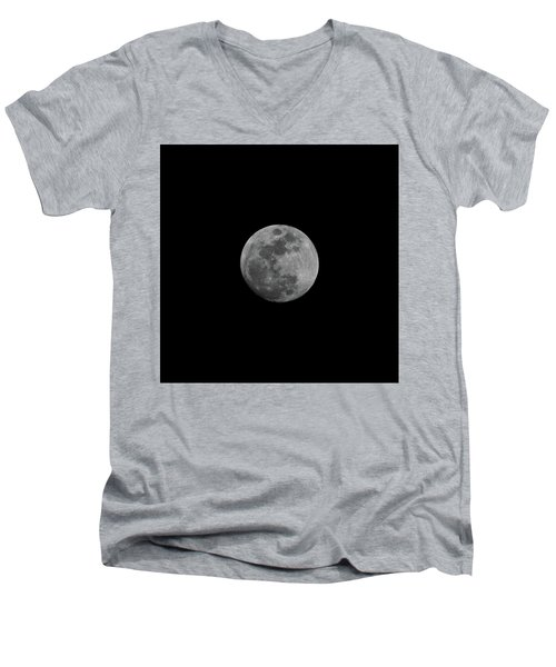 Early Spring Moon 2017 Men's V-Neck T-Shirt