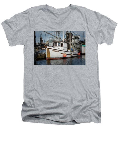 Men's V-Neck T-Shirt featuring the photograph Early Spring by Randy Hall